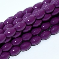 50 Czech Rice Pearls 6 x 4 mm Eggplant 48279